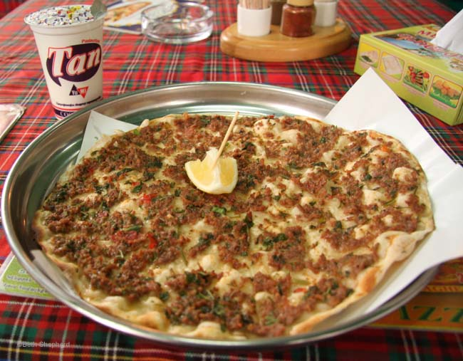 Lamajoun Armenian pizza