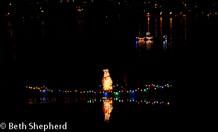 Floating snowman, Green Lake, Seattle, Pathway of Lights