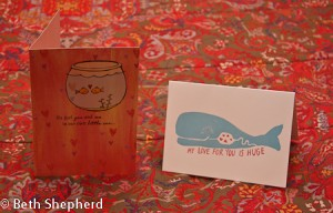 Fish and whale cards