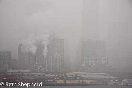 Seattle in the mist
