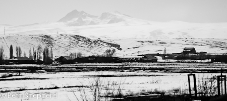 On the way to Gyumri, Armenia