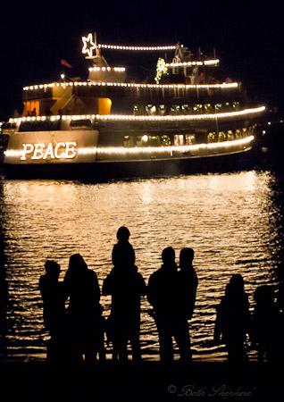 Seattle Christmas ship PEACE