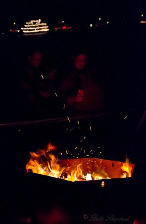 Bonfire at Madison Park Beach