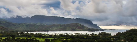 Puff the Magic Dragon rising from Hanalei Bay