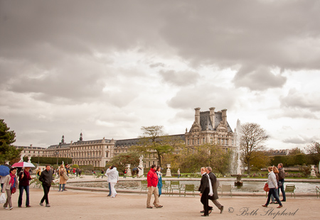 Tuileries on a gray day