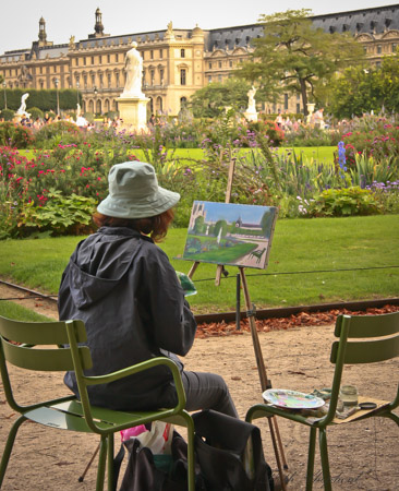 Painting in the Tuileries Paris France