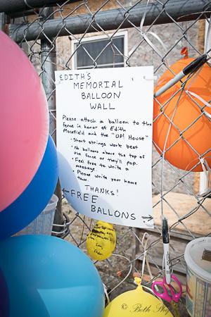 Ballard memorial balloon wall