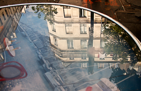 Paris cafe reflections