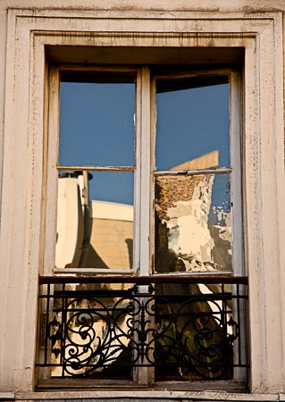 Window reflection in Paris