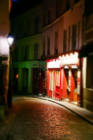 Street in Paris at night