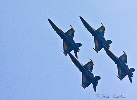 Four Blue Angels
