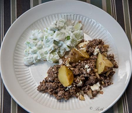 Armenian cucumber lamb potatoes