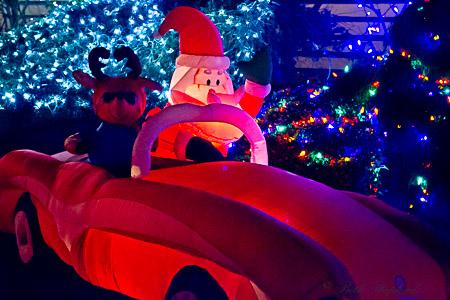 Blow up Santa and Rudolf