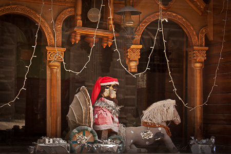 Father Christmas Armenian puppet