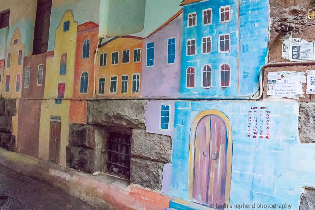 Buildings mural