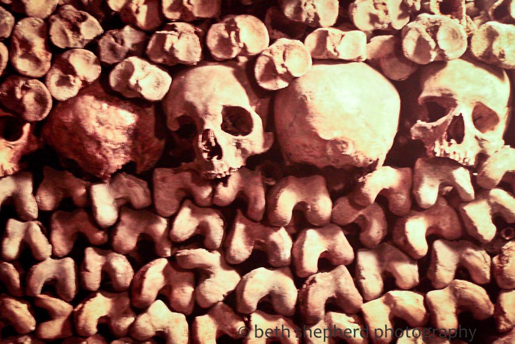 Skulls in Les Catacombes