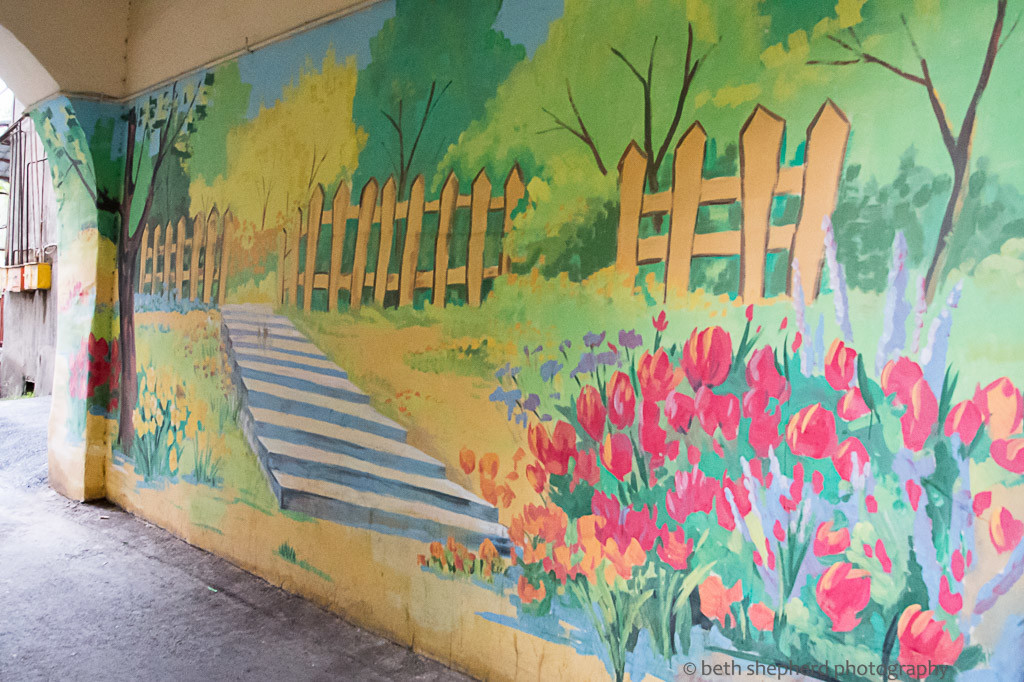 Yerevan picket fence mural