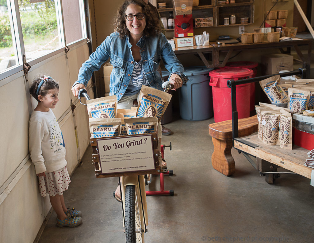 Riding a bike to make peanut butter