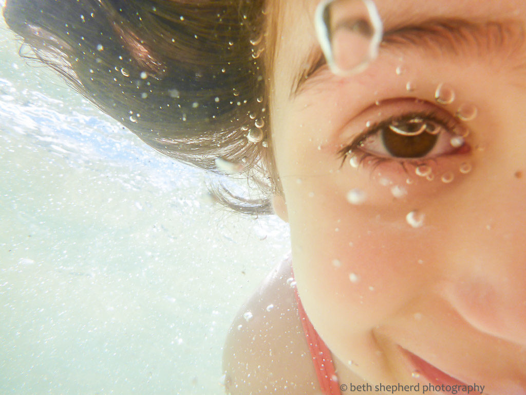 daughter underwater
