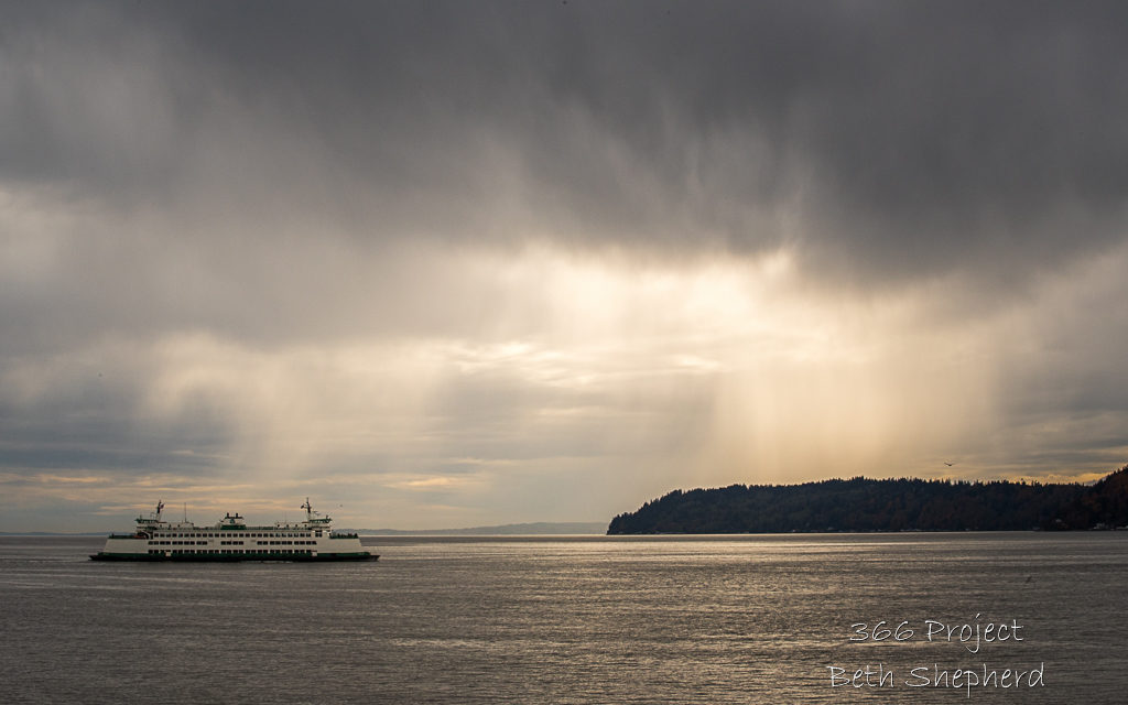 rainstorm and ferry