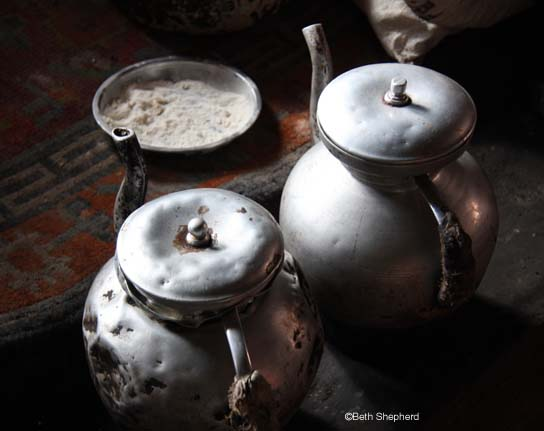 Tea with monks