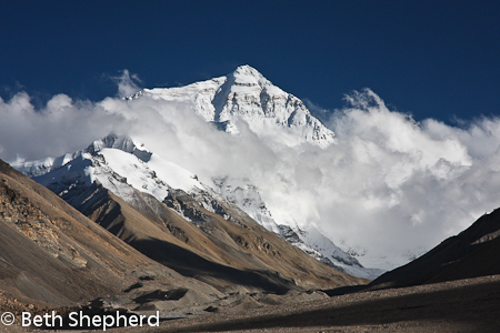 Mt Everest, Tibet, China