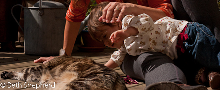 Petting Maggie