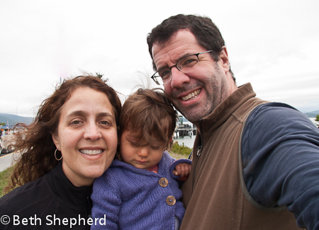 Big Papa, Baby Bird and me at the ferry 2012