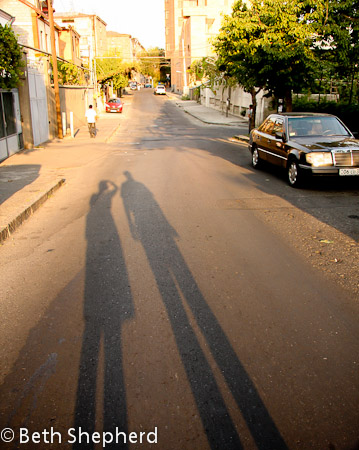 Yerevan shadows, Armenia