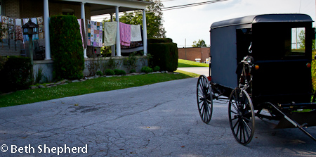 Lancaster quilts and buggy