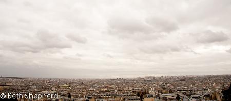 Paris under clouds from Montmarte