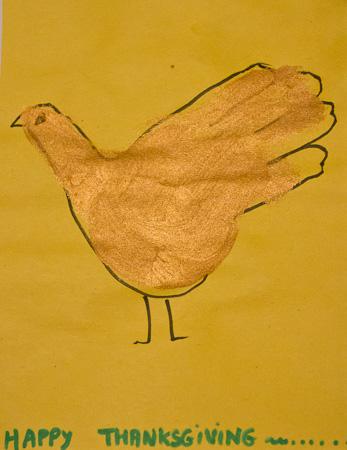 Happy Thanksgiving turkey drawing