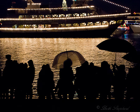 Seattle Christmas ships in the rain