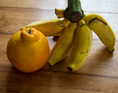 Tangelo and apple bananas
