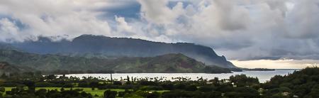 Puff the Magic Dragon rising from Hanalei Bay