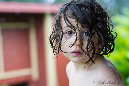 All wet outdoor shower