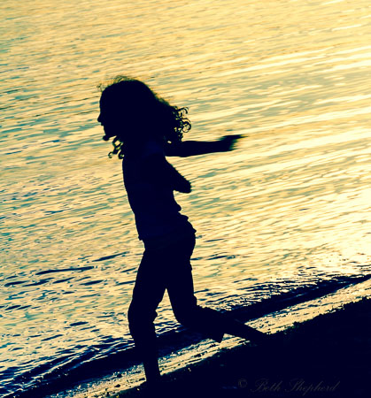 Silhouette at play