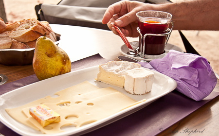 Mulled wine and cheese in Paris