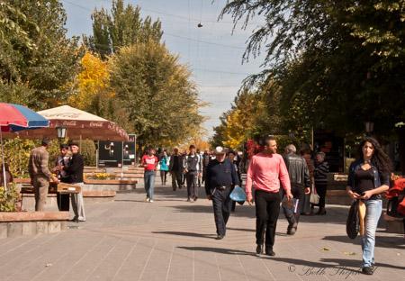 Gyumri shopping street
