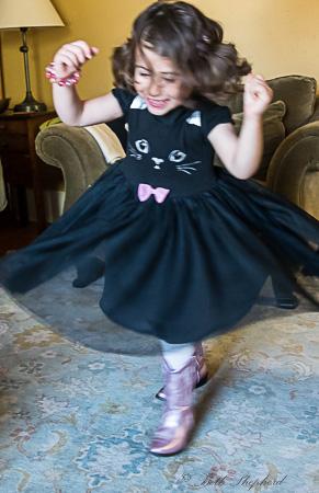 Twirling birthday girl