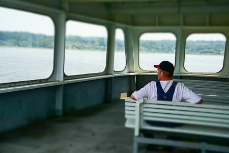 Aboard the ferry