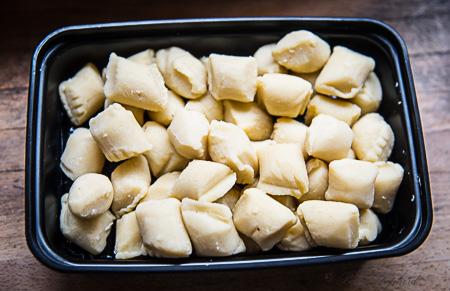 Potato flakes and almond flour gnocchi Cappello's