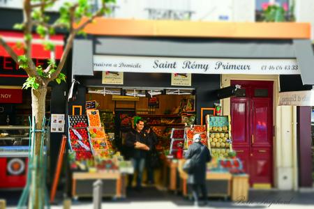 Market store in Paris