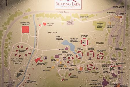 leeping Lady Mountain Resort map
