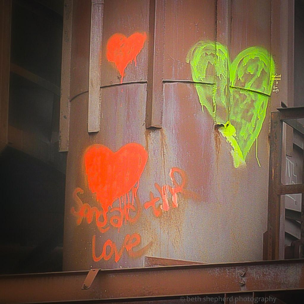 Spread the love graffiti