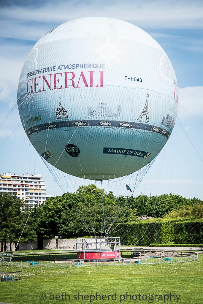 Parc André Citroën hot air balloon