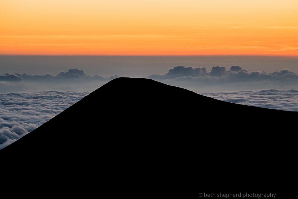 Big Island mountain sunset