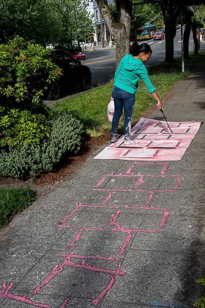 Making Hopscotch squares