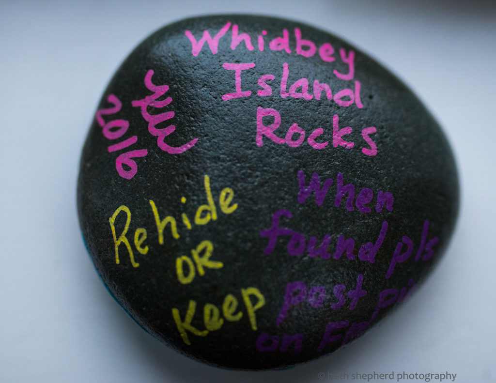 rock treasure on Whidbey